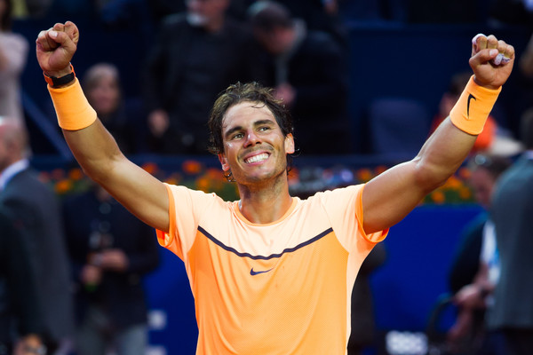 Rafael Nadal celebrating his win at the Barcelona Open. | Photo: Alex Caparros/Getty Images