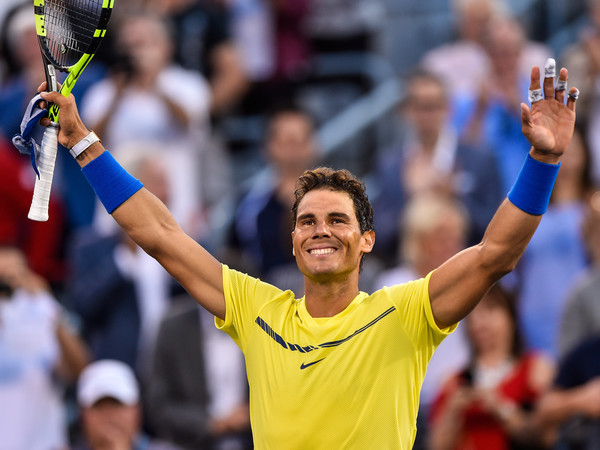 Rafael Nadal celebrates his second round win | Photo: Minas Panagiotakis/Getty Images North America