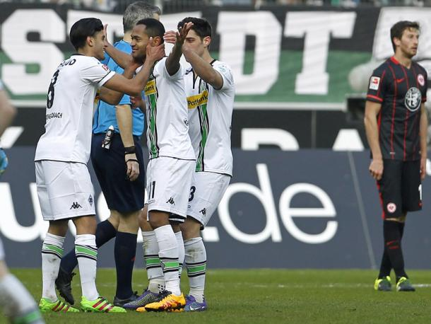 Raffael celebrates the spectacular second goal. | Image credit: kicker - Getty Images