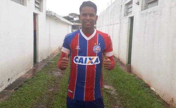 Railan marcou o gol do Bahia em Taquaritinga (Foto: Divulgação/Bahia EC)