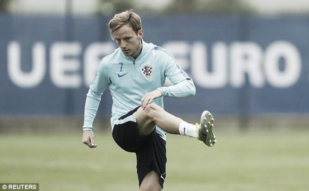 Above: Ivan Rakitic training for Croatia ahead of Euro 2016 | Photo: Reuters
