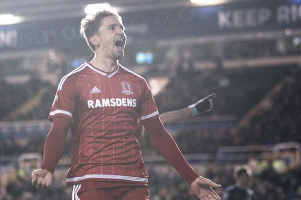 Above: Gaston Ramirez in action during his loan spell at Middlesbrough | Photo: The Gazzette