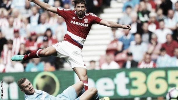 Gaston Ramirez in action v Stoke (Picture from Getty Images)
