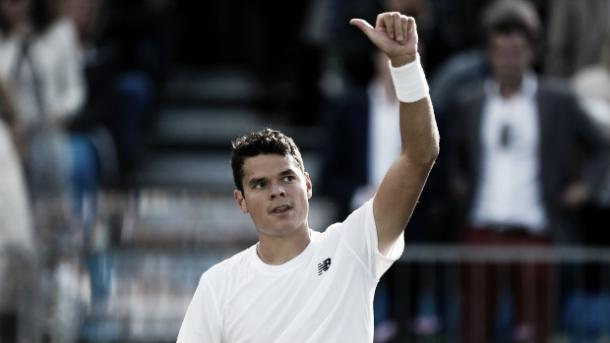 Raonic hadn't lost his serve all week before this match (Picture from Newsclip.com)