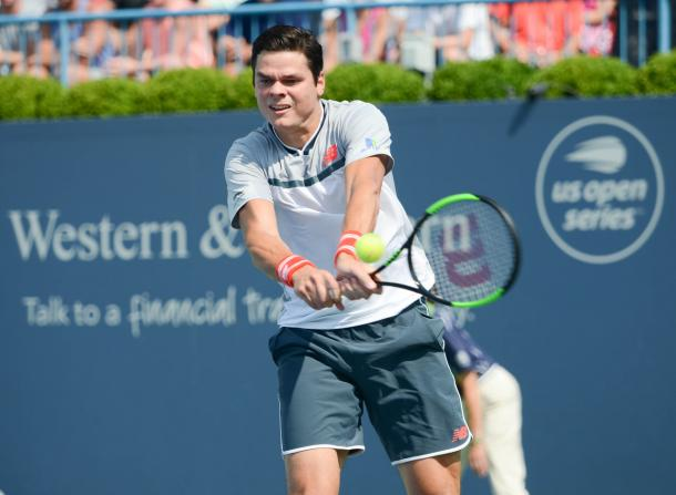 Raonic did not need to rely on his ground game against Jaziri. He probably will in the next round. Photo: Noel Alberto/VAVEL USA