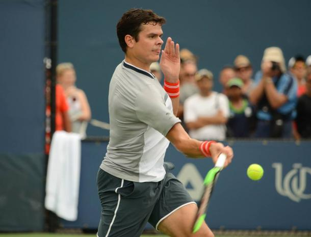 Raonic used his devastating forehand on some key points in the match. Photo: Noel Alberto/VAVEL USA