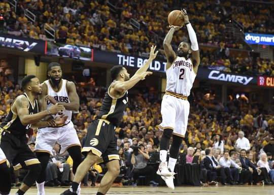 Cleveland Cavaliers guard Kyrie Irving (2) shoots  the ball. Photo by: David Richard-USA TODAY Sports