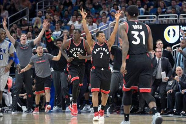 The Toronto Raptors are on fire, leading the NBA in offensive rating with 115.4. Photo: Phelan M. Ebenhack/AP Photo