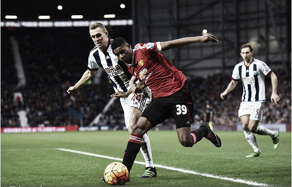 Marcus Rashford had a tough afternoon against WBA (Photo: Laurence Griffiths / Getty Images)