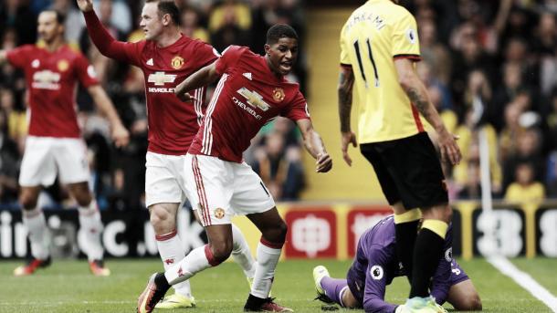 Rashford marcó el gol en la derrota ante el Watford. Foto: Premier League.