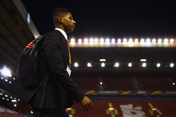 Schoolboy Rashford has already faced Arsenal, Manchester City and Liverpool at just 18 | Photo: Laurence Griffiths/Getty Images