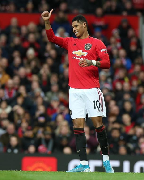 Rashford abre o placar do confronto (Divulgação / Manchester United)