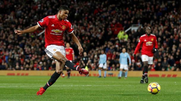 Gol de Rashford ante el City | Fotografía: Premier League