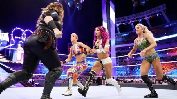Nia Jax was a dominating figure but failed to capture the women's championship as Bayley retained (image: wwe,com)