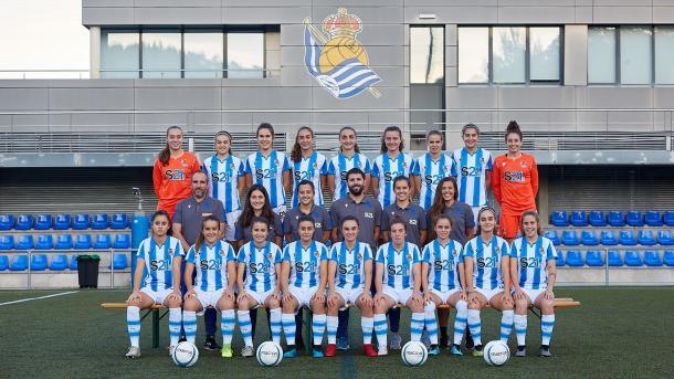 El plantel actual de Real Sociedad posa para la foto anual de la temporada 2019/20// Foto: RealSociedad.eus