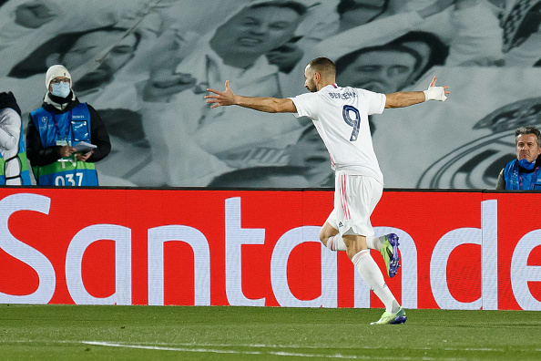 Benzema celebrates his first goal ( DeFodi Images)