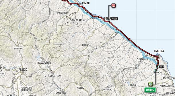 Recorrido etapa 12: Osimo - Imola | Foto: Giro de Italia