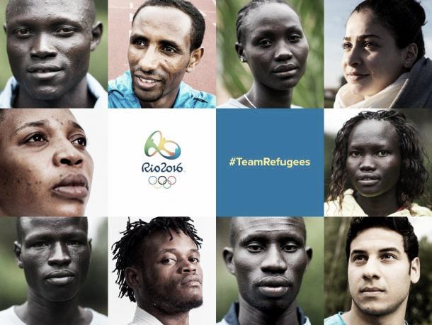 Delegação dos refugiados de 2016 (Foto: Divulgação/Rio2016)