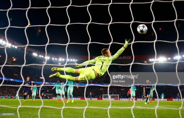 El golazo de Di María en el 4-0 frente a Barcelona. Foto: Getty images.