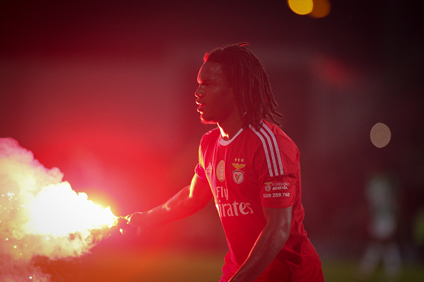 Benfica's midfielder Renato Sanches during the Premier League 2015/16 match between Rio Ave FC and SL Benfica, at Rio Ave Stadium in Vila do Conde on April 24, 2016 in Lisbon, Portugal. (Photo by Pedro Lopes /NurPhoto/DPI)
