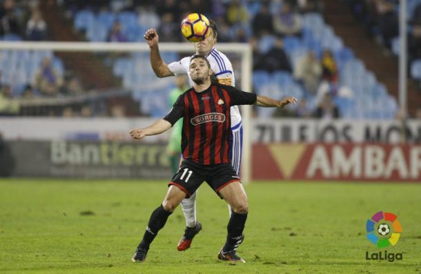 Fran Carbia empezo el partido como el delantero centro del Reus. (Foto: LaLiga)