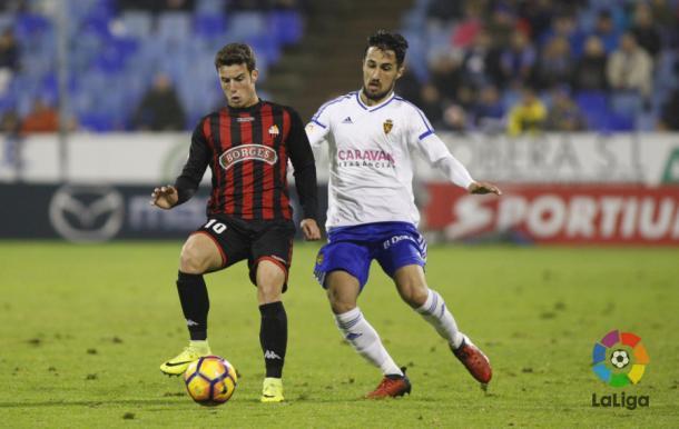 El portugues Ricardo Vaz (10) entró en la segunda parte substituyendo a Fran Carbia. (Foto: LaLiga)
