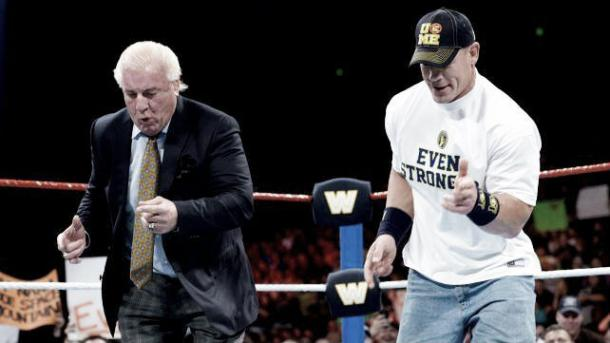 What would Cena give up to equal Ric Flair (image: Wrestle stars)