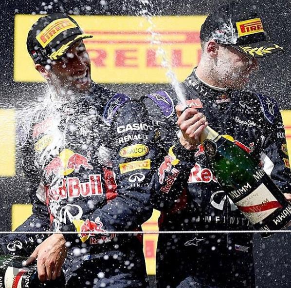 Ricciardo y Vettel en 2014