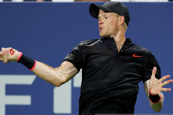 ​Photo: Richard Heathcote/Getty Images-Edmund goes for his forehand.