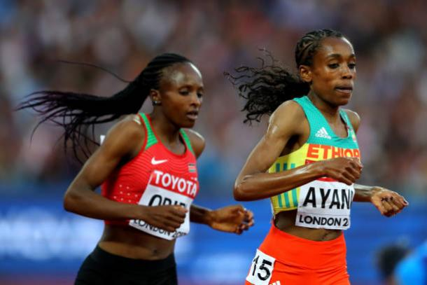 Obiri and Ayana were well in front for the majority of the race (Getty/Richard Heathcote)