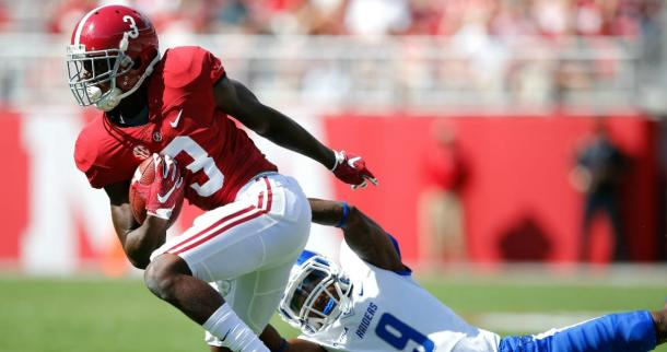 While not the surefire talent of Alabama receivers before him, Ridley stands on his own at the top of the class | Kevin C. Cox, Getty Images