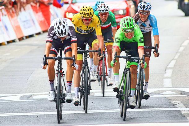 Rigoberto Urán ganador de la etapa 9 del Tour de Francia   FOTO: Reuters