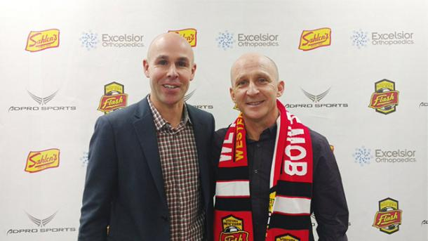 Paul Riley after becoming Western New York Flash's head coach prior to the 2016 NWSL season | Source: nwslsoccer.com