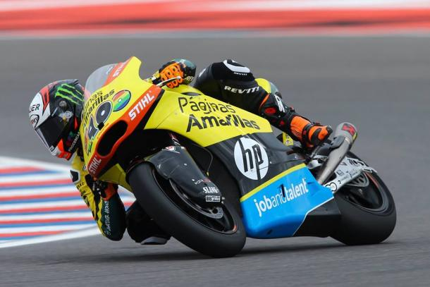 Rins finished the race in fourth | Photo: Páginas Amarillas HP 40