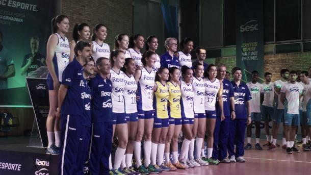 O time do Rexona-SESC, comandado por Bernardinho (Foto: Cássia Moura/VAVEL Brasil)