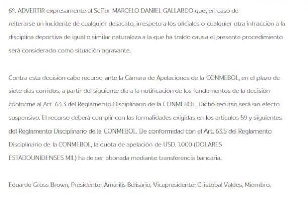 Foto: Página Oficial CONMEBOL