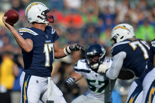 Philip Rivers threw for a touchdown in only drive. | Photo: USA Today Sports