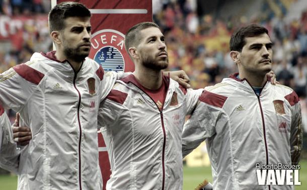 Piqué, Sergio Ramos e Iker Casillas. Fuente Alberto Brevers VAVEL