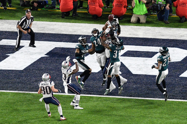 The Patriots' last-gasp Hail Mary was knocked down in the end zone as time expired/Photo: Hannah Foslien/Getty Images