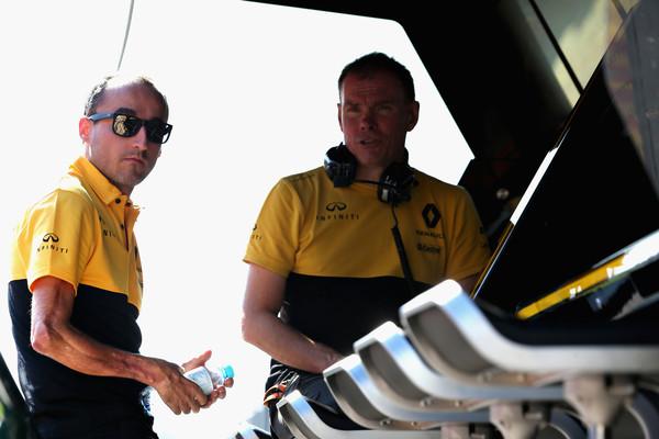 Kubica con Renault en unos test en Hungría este año. Fuente: Getty Images