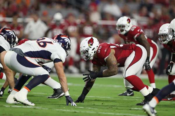 Robert Nkemdiche #90 of the Arizona Cardinals hopes to have a big season for the Arizona Cardinals.  Aug. 31, 2016 - Source: Christian Petersen/Getty Images North America 