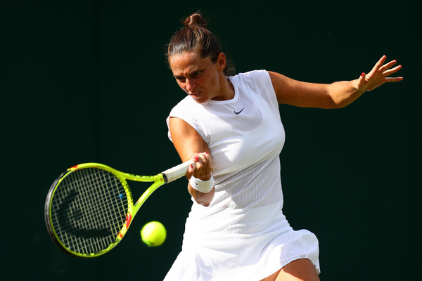 Roberta Vinci in action at the Wimbledon Championships | Photo: Michael Steele/Getty Images Europe