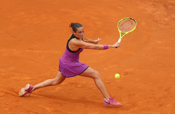 Roberta Vinci in action in the gorgeous Italian capital. Photo: Matthew Lewis/Getty Images