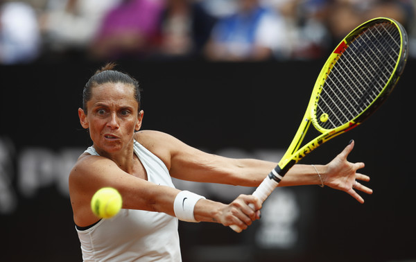 Roberta Vinci in action during the last match of her career | Photo: Julian Finney/Getty Images Europe