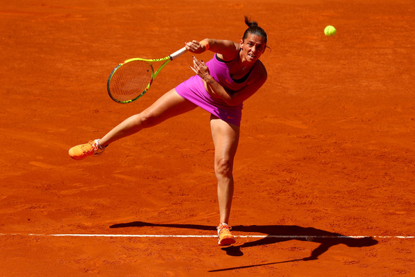 Roberta Vinci in action at last week's Mutua Madrid Open | Photo: Clive Rose/Getty Images Europe