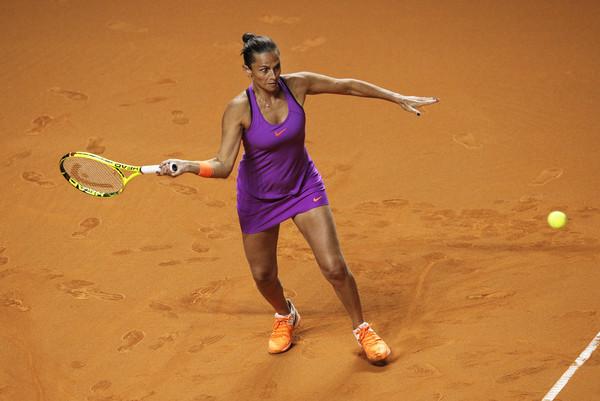 Roberta Vinci was part of a blockbuster match-up against Maria Sharapova in Stuttgart | Photo: Adam Pretty/Bongarts