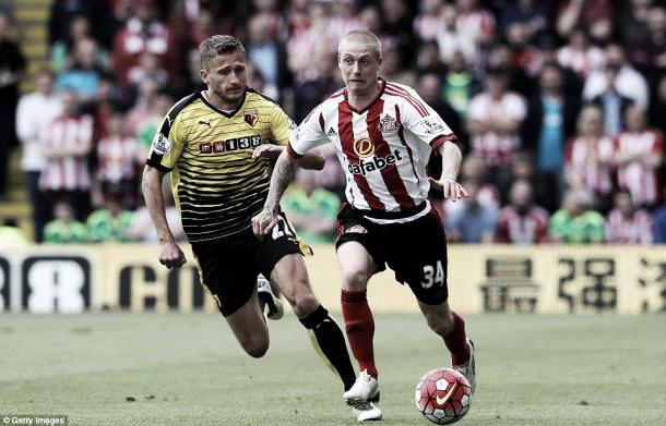 Above: Sunderland's Tommy Robson in action in their 2-2 draw with Watford | Photo: Getty Images