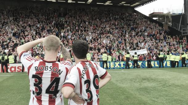 Above: Tom Robson and George Honeyman after Sunderland's 2-2 draw with Watford | Photo: safc.com