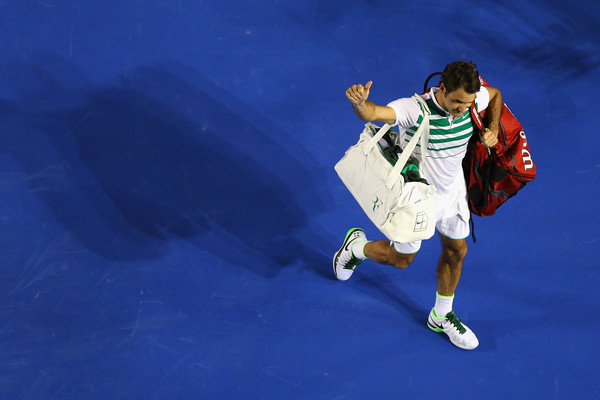 Federer exits the Australian Open. Photo: Cameron Spencer/Getty Images