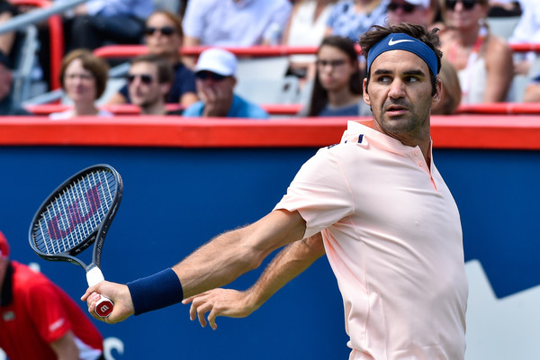 Roger Federer in action during the match | Photo: Minas Panagiotakis/Getty Images North America